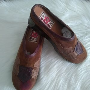 Lucky Brand Peace Suede Leather Clogs 8